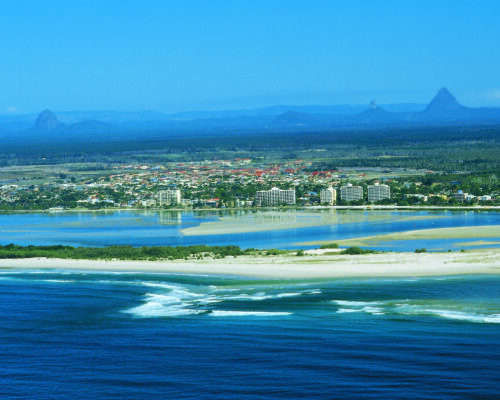 Golden Beach and Glass House Mountains
